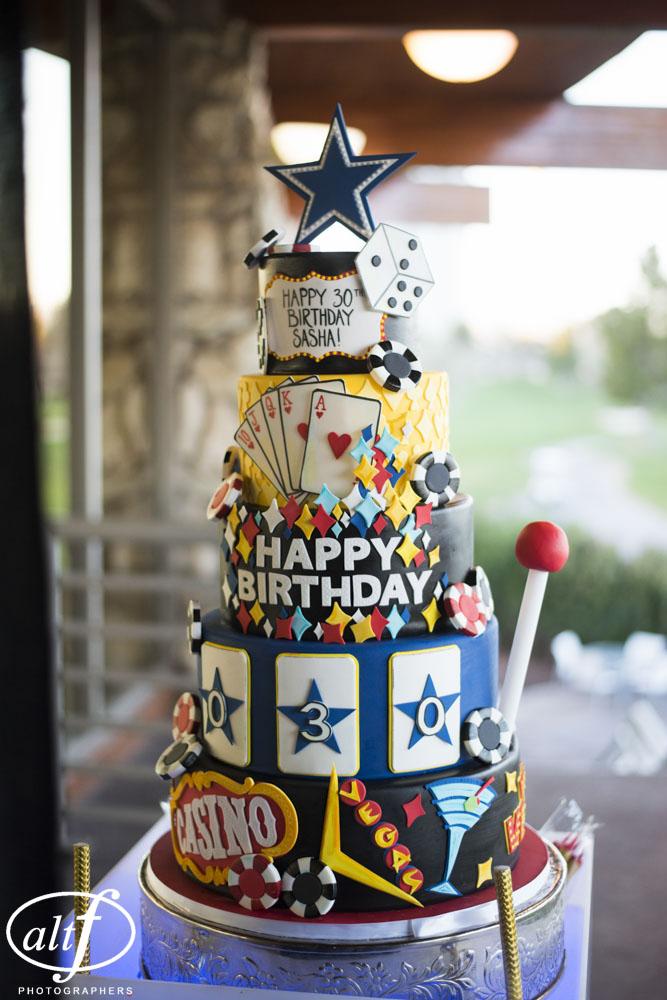 Vegas Th Birthday Cake