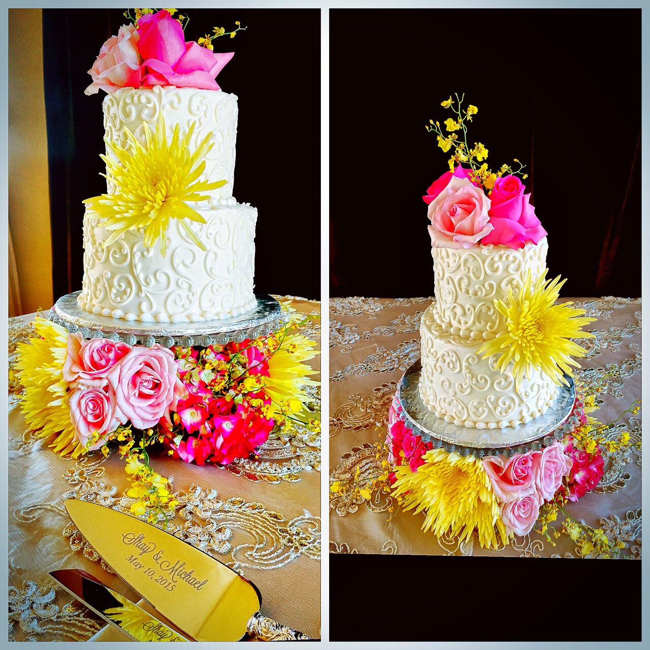 las vegas wedding videographers, memory lane video, lake club, wedding cakes, green orchid events,